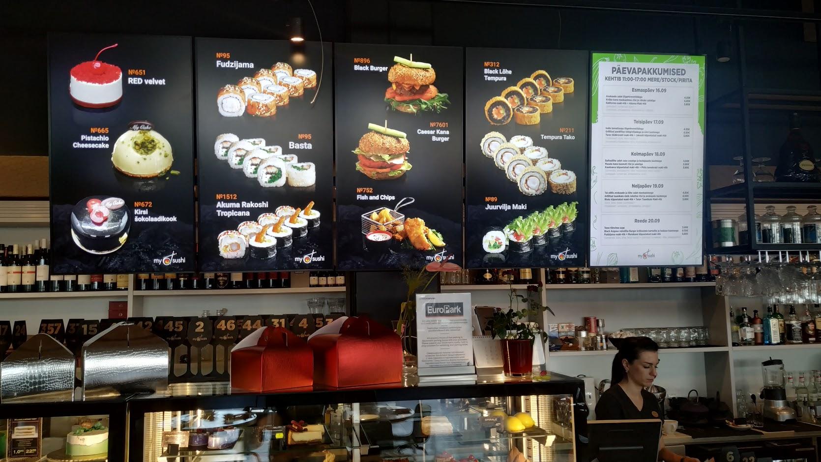 Ekraani- ja helilahendus MySushi restoraniketile